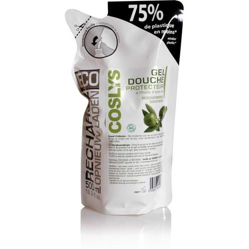 Eco Recharge Gel Douche à l'huile d'olive Bio Coslys