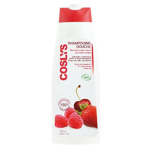 Produits Bio Shampooing Douche Fruits Rouges - Vitaminé - 750ml