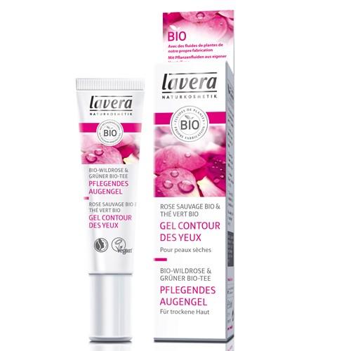Produits Bio Gel contour des yeux rose sauvage bio