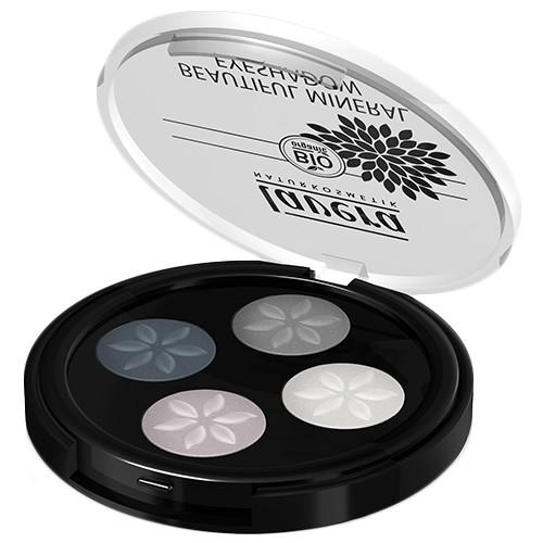 Produits Bio Palette Quattro - Fards à paupières poudres compactées - Smoky Grey 01
