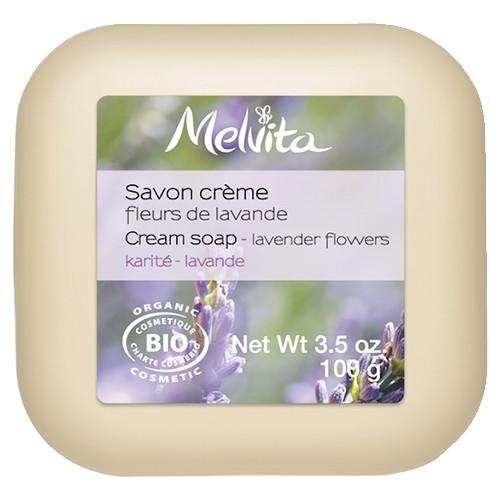 Produits Bio Savon crème fleurs de lavande